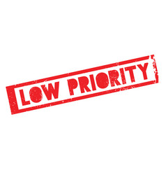 Low priority rubber stamp vector