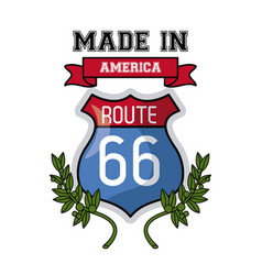 Made in usa emblem vector