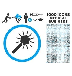 Magic Tool Icon with 1000 Medical Business Symbols vector image