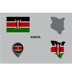Map of Kenya and symbol vector image