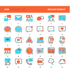Message bubbles icons vector