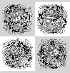 Music cartoon doodle vector