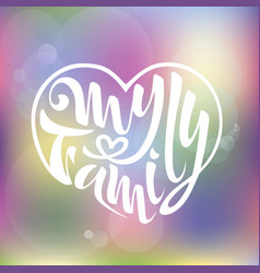 My family of badges logo famil vector