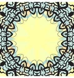 Ottoman design frame for text banner vector
