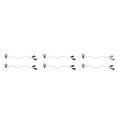 Path human footprints swave 2 vector