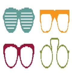 Pixel sun glasses set vector image vector image