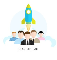 Project Start-up Flat Design Icon Start-up Team vector image