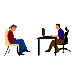 reading book sitting on chair and from computer vector image