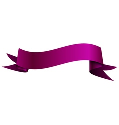 Realistic shiny purple ribbon isolated on white vector