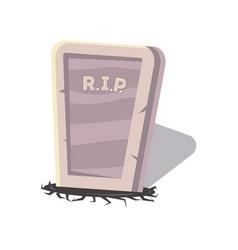 Rip gravestone isolated cartoon icon vector