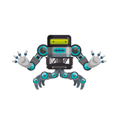 robot machine technology vector image