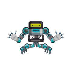 Robot machine technology vector