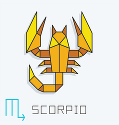 scorpio sign vector image