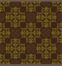 seamless abstract vintage dark brown yellow vector image