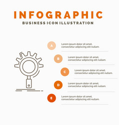 seo search optimization process setting vector image