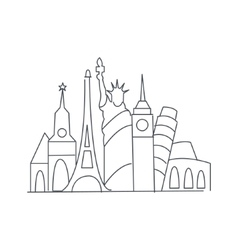 Set Of World Famous Symbolical Monuments vector