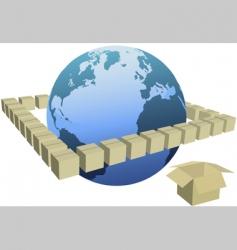 shipping box cartons vector image vector image