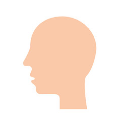 silhouette human head profile man image vector image