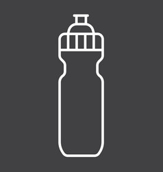Sports water bottle line icon fitness and sport vector