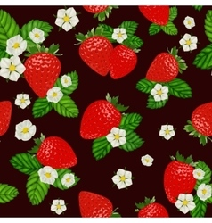 strawberry seamless pattern Background vector image