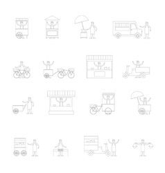 Street Food Icon Outline vector