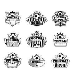 successful football emblem club vector image