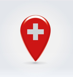 Swiss icon point for map vector image