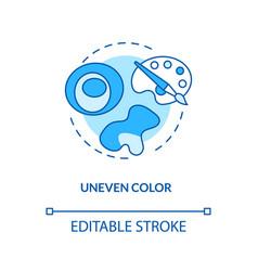 Uneven color concept icon vector