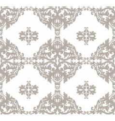 Vintage Baroque ornament floral pattern vector