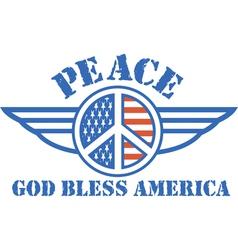Vintage patriotic american logos vector