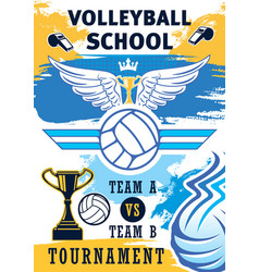 volleyball sport school team training vector image