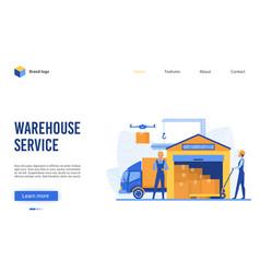 warehouse service cartoon vector image