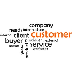 Word cloud customer vector
