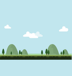 Beauty scenery with hill for game background vector