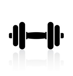 Dumbbell icon vector