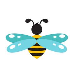 honeybee cartoon icon isolated vector image