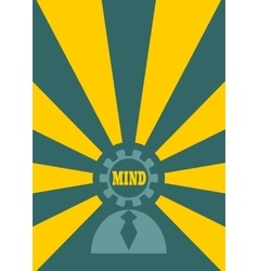 Human icon and mind shining vector image vector image