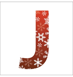 J Letter vector image vector image