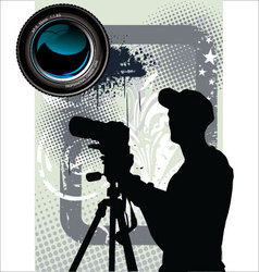 Photographer background vector image vector image