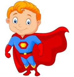 Super hero boy posing vector image