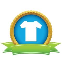 Gold tee shirt logo vector image vector image