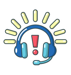 headphones icon cartoon style vector image