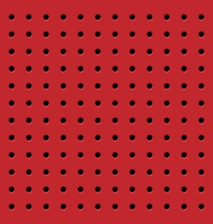 Perforated red seamless pattern vector image
