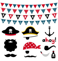 Pirate design element vector image vector image