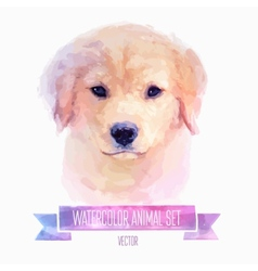 set of watercolor Cute dog vector image