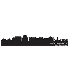 Wellington New Zealand skyline Detailed silhouette vector image vector image