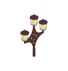 An ornate lamp post icon isometric 3d style vector image vector image