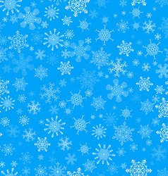 Blue seamless Christmas pattern with different vector image vector image