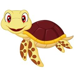 Cartoon baby cute turtle vector image