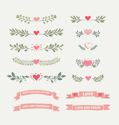 collection vintage elements vector image vector image
